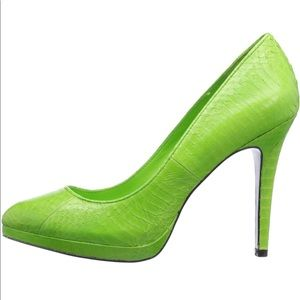 Ralph Lauren 'snake' lime heels